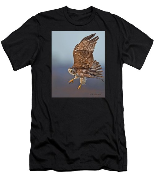 Red-tailed Hawk In Flight Men's T-Shirt (Athletic Fit)