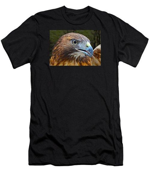 Red-tailed Hawk Portrait Men's T-Shirt (Athletic Fit)