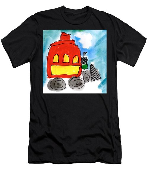 Red Train Men's T-Shirt (Athletic Fit)
