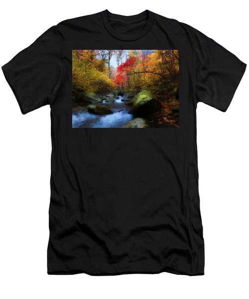 Red Tree In White Oak Canyon Men's T-Shirt (Athletic Fit)