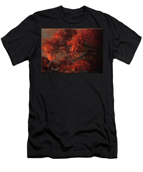 Red Tree Scene Men's T-Shirt (Athletic Fit)
