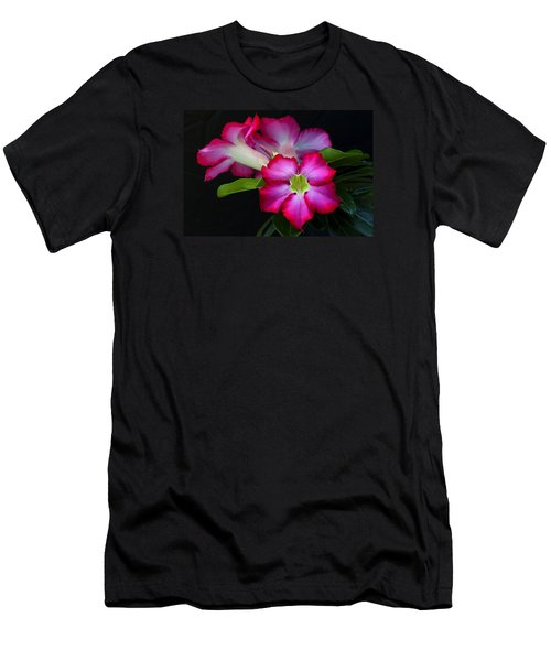 Men's T-Shirt (Athletic Fit) featuring the photograph Red Tropical Flower by Ken Barrett