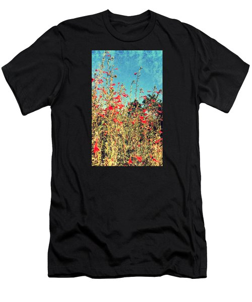 Red Trumpets Playing Men's T-Shirt (Athletic Fit)