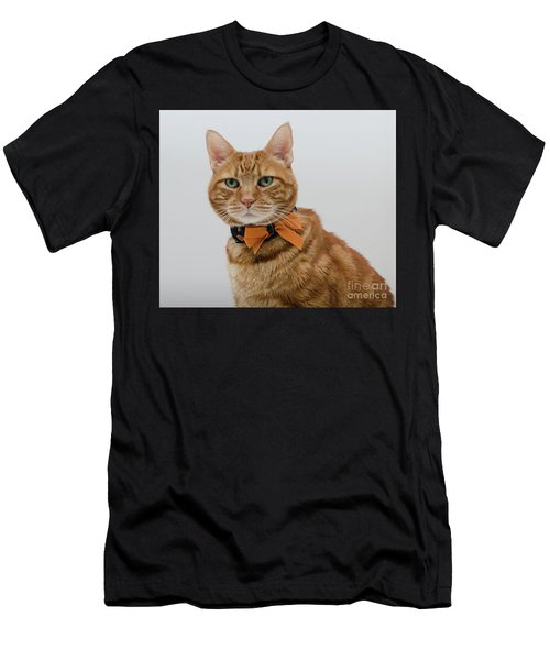 Red Tubby Cat Tabasco Halloween Men's T-Shirt (Athletic Fit)