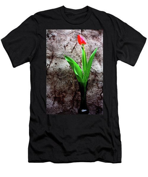 Red Tulip Men's T-Shirt (Slim Fit) by Gray  Artus