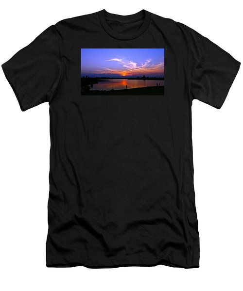 Men's T-Shirt (Slim Fit) featuring the photograph Red, White And Blue by Eric Dee
