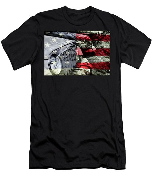 Red White And Jeep Men's T-Shirt (Athletic Fit)