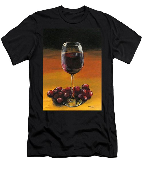 Red Wine And Red Grapes Men's T-Shirt (Athletic Fit)