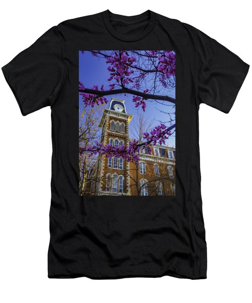 Redbud At Old Main Men's T-Shirt (Slim Fit) by Damon Shaw