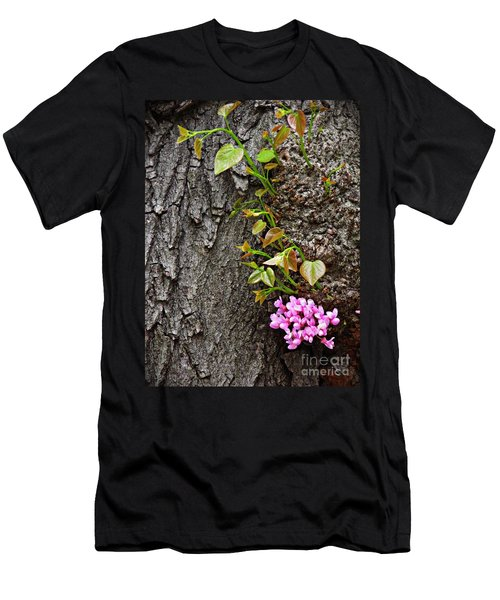 Redbud Flowers 2 Men's T-Shirt (Slim Fit) by Sarah Loft
