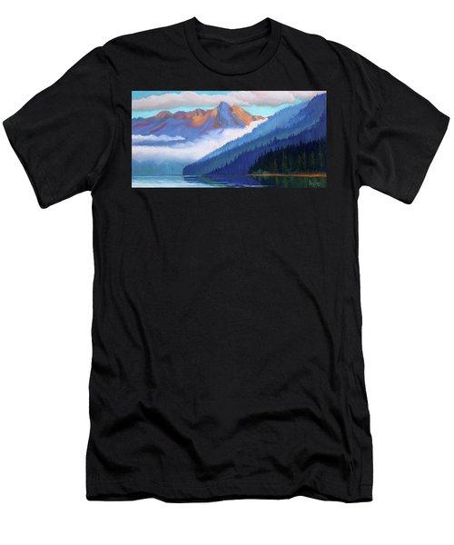Redfish Lake - Low Clouds Men's T-Shirt (Athletic Fit)
