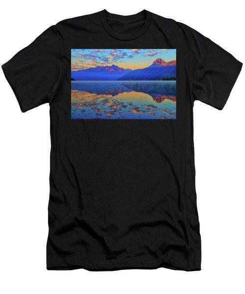 Redfish Lake Morning Reflections Men's T-Shirt (Athletic Fit)