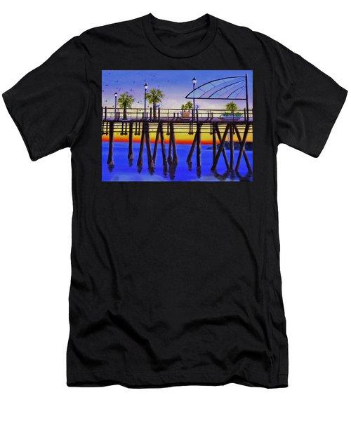 Redondo Beach Pier Men's T-Shirt (Athletic Fit)