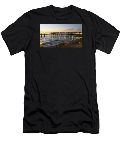 Men's T-Shirt (Athletic Fit) featuring the photograph Redondo Pier At Sunset by Michael Hope