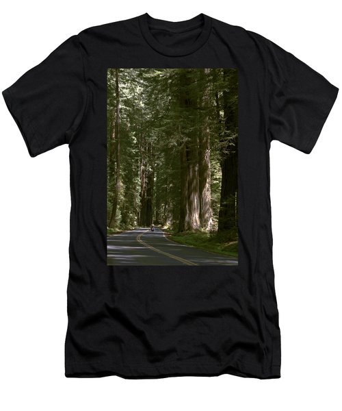 Redwood Highway Men's T-Shirt (Slim Fit) by Wes and Dotty Weber
