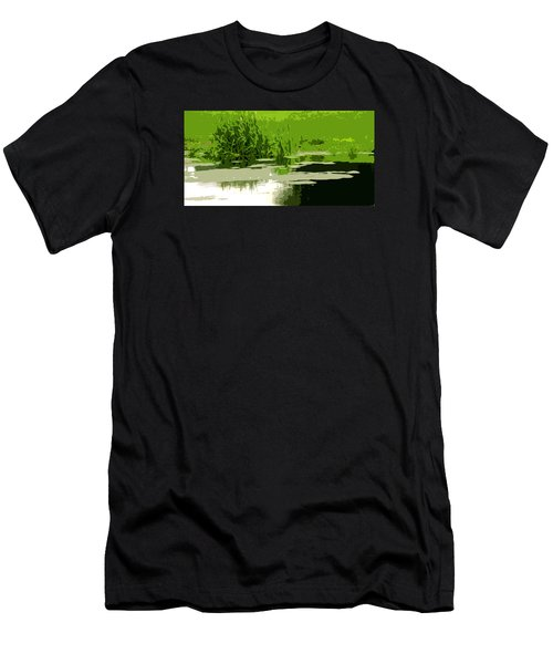 Men's T-Shirt (Slim Fit) featuring the photograph Reeds At The  Pond by Spyder Webb