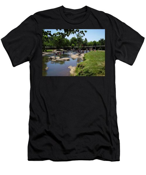 Reedy River Men's T-Shirt (Slim Fit) by Flavia Westerwelle