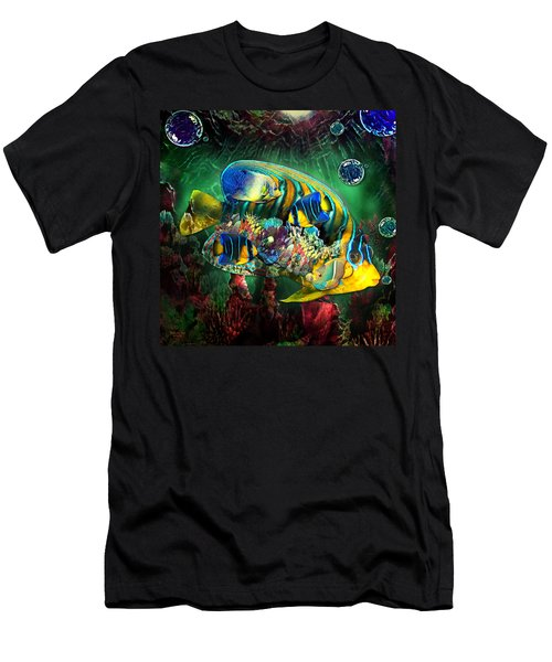 Reef Fish Fantasy Art Men's T-Shirt (Athletic Fit)