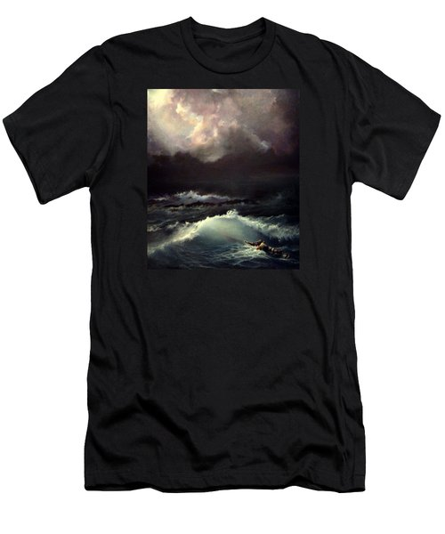 Men's T-Shirt (Slim Fit) featuring the painting Reef by Mikhail Savchenko