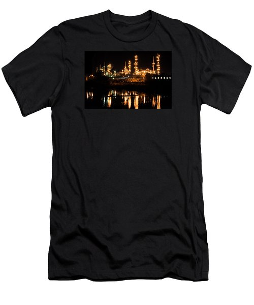 Refinery At Night 1 Men's T-Shirt (Athletic Fit)