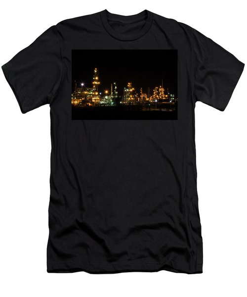Refinery At Night 2 Men's T-Shirt (Athletic Fit)