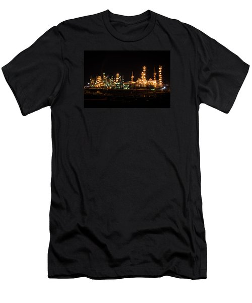 Refinery At Night 3 Men's T-Shirt (Athletic Fit)