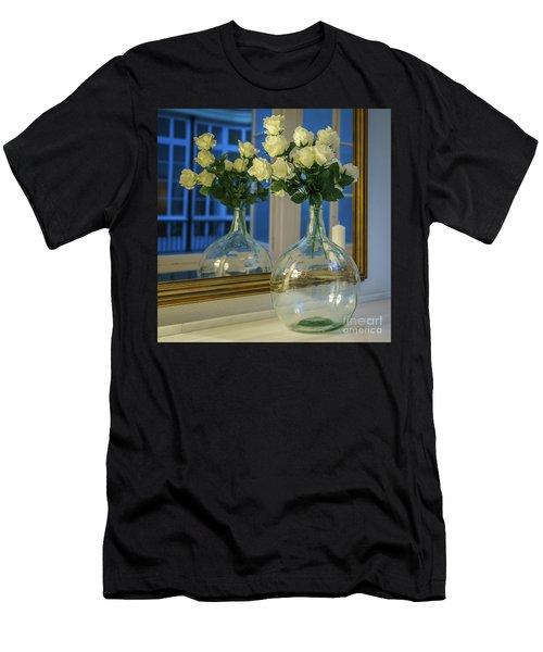 Men's T-Shirt (Athletic Fit) featuring the photograph Reflected Demijohn Cadiz Spain by Pablo Avanzini