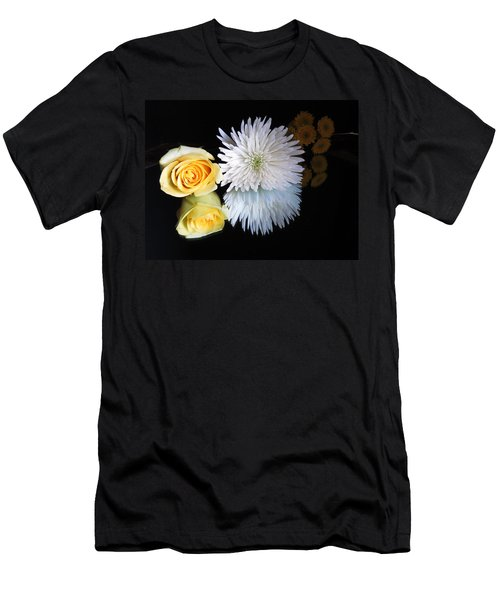 reflected Flowers Men's T-Shirt (Athletic Fit)