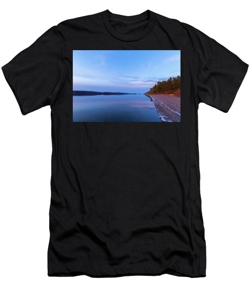 Men's T-Shirt (Athletic Fit) featuring the photograph Reflecting At The Reservoir by Brian Hale