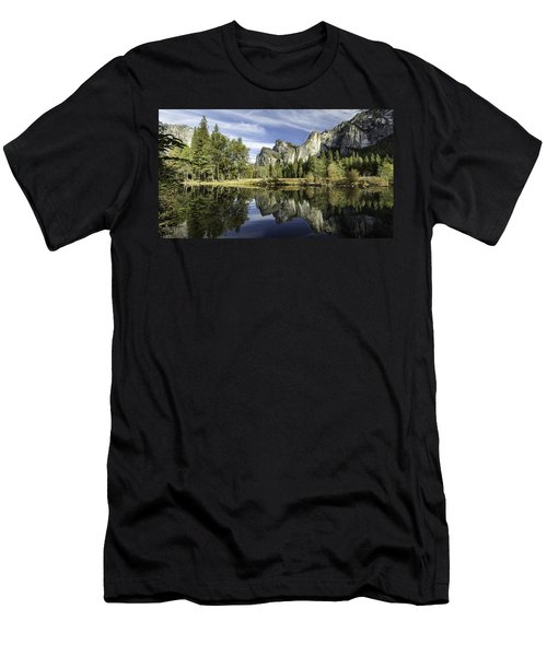 Men's T-Shirt (Athletic Fit) featuring the photograph Reflecting On Yosemite by Chris Cousins