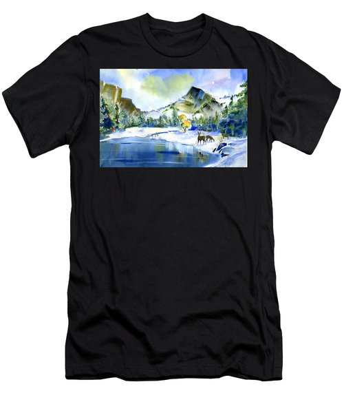 Reflecting Yosemite Men's T-Shirt (Athletic Fit)