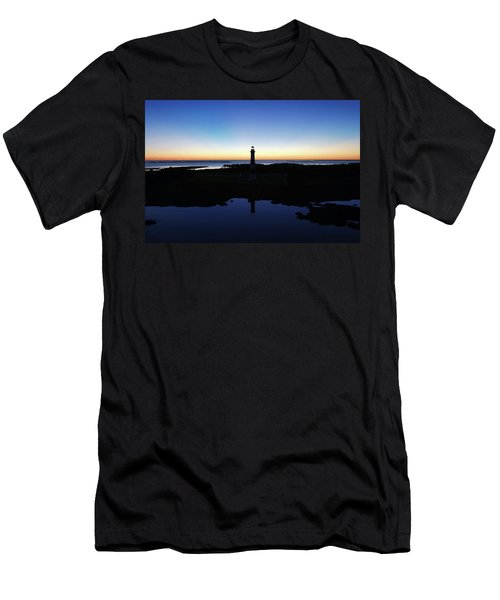 Reflection Of Bodie Light At Sunset Men's T-Shirt (Athletic Fit)