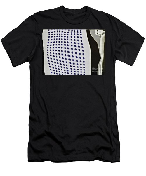 Men's T-Shirt (Slim Fit) featuring the photograph Reflection On 42nd Street 1 Negative by Sarah Loft