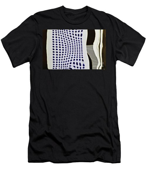 Men's T-Shirt (Slim Fit) featuring the photograph Reflection On 42nd Street 2 Negative by Sarah Loft