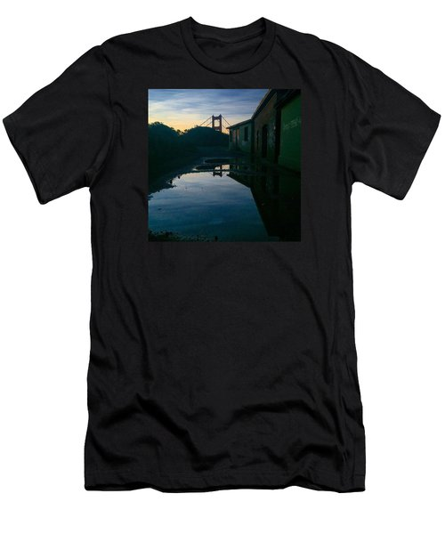 Reflecting On Past Wars Men's T-Shirt (Slim Fit) by Eugene Evon