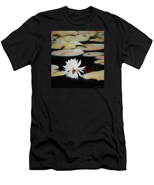 Men's T-Shirt (Slim Fit) featuring the painting Reflection Pond by Debra     Vatalaro