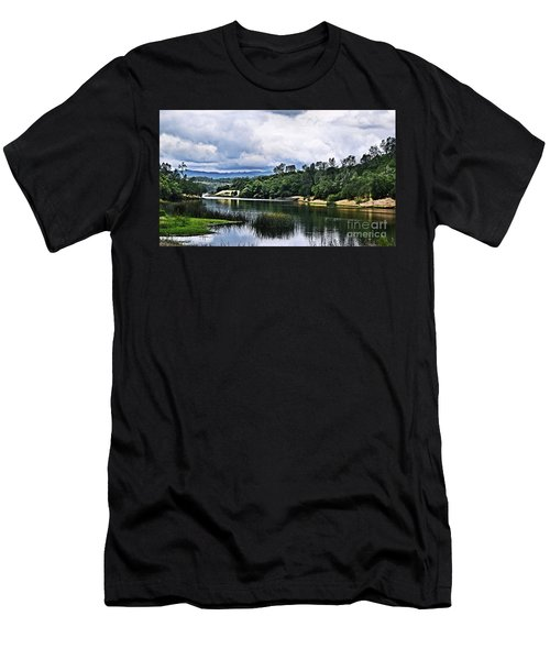 Reflections At Nicasio Reservoir  Men's T-Shirt (Athletic Fit)