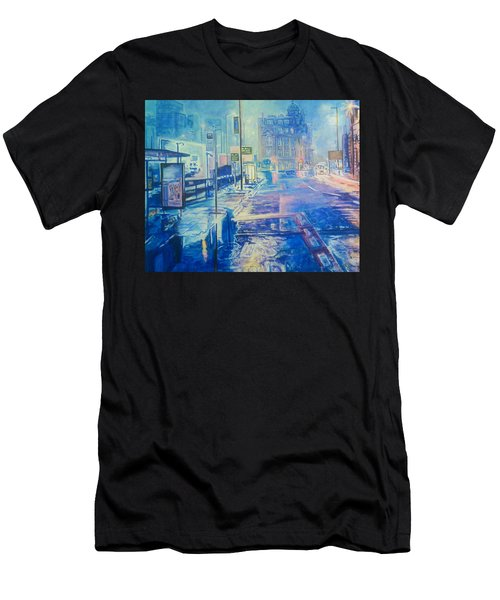 Reflections At Night In Manchester Men's T-Shirt (Athletic Fit)