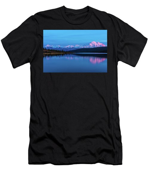 Sunset Reflections Of Denali In Wonder Lake Men's T-Shirt (Athletic Fit)