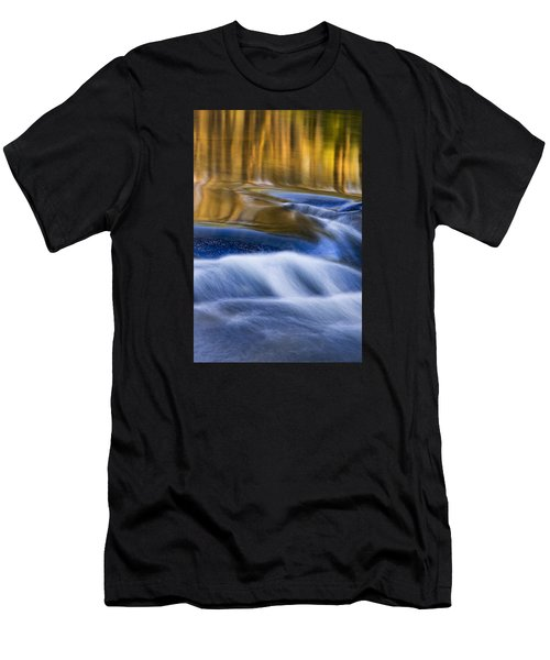 Men's T-Shirt (Athletic Fit) featuring the photograph Reflections  Of Linville River by Ken Barrett