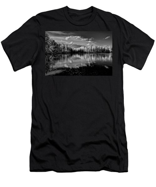 Reflections Of Tamaracks Men's T-Shirt (Slim Fit) by David Patterson