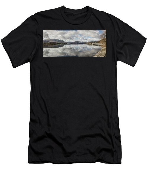 Men's T-Shirt (Athletic Fit) featuring the photograph Reflections On Ullswater by RKAB Works