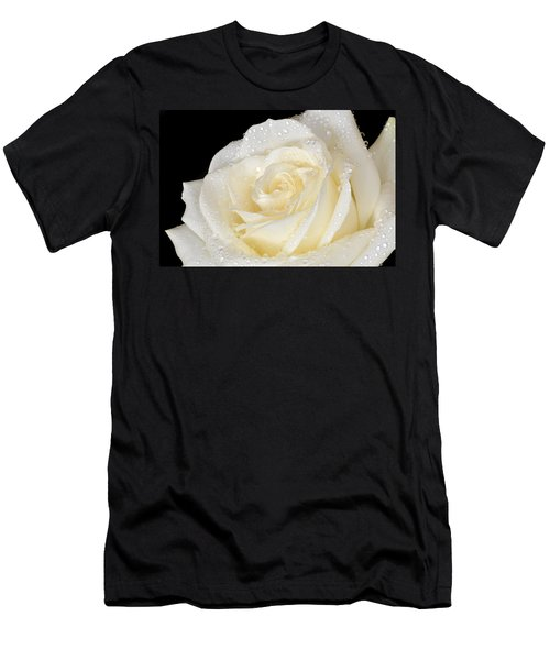 Refreshing Ivory Rose Men's T-Shirt (Slim Fit) by Terence Davis