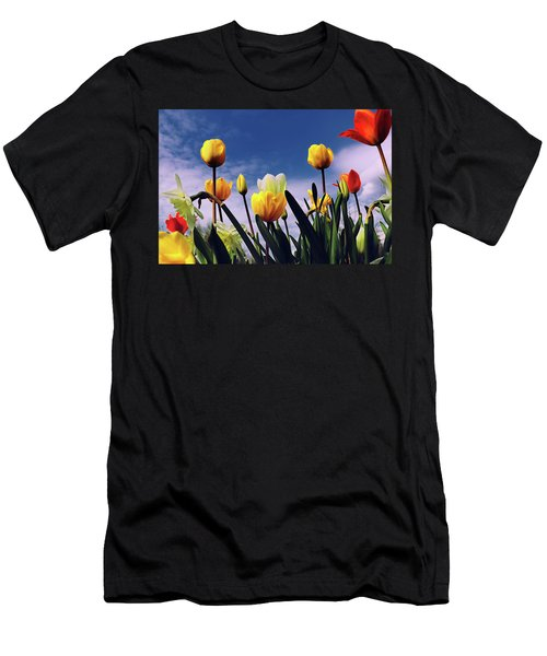 Relax With The Tulips Men's T-Shirt (Athletic Fit)
