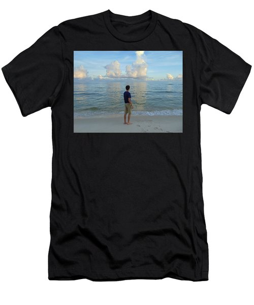 Relaxing By The Ocean Men's T-Shirt (Athletic Fit)