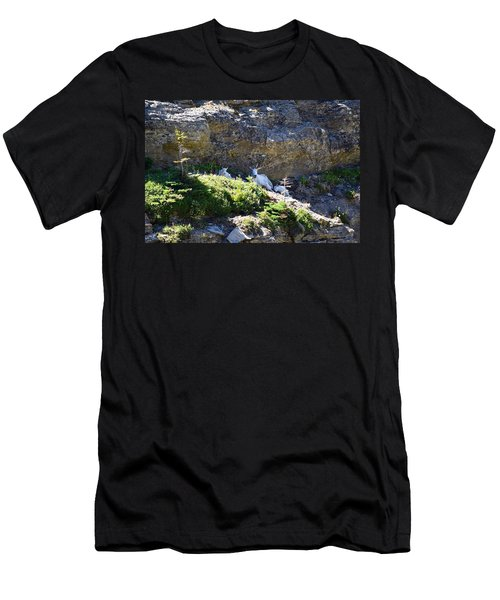 Men's T-Shirt (Slim Fit) featuring the photograph Relaxing In The Shade by Dacia Doroff