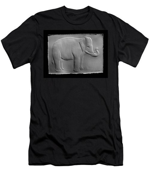 Relief Elephant Drawing Men's T-Shirt (Athletic Fit)