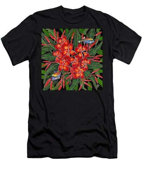 Tropical Fish Plumerias Men's T-Shirt (Athletic Fit)
