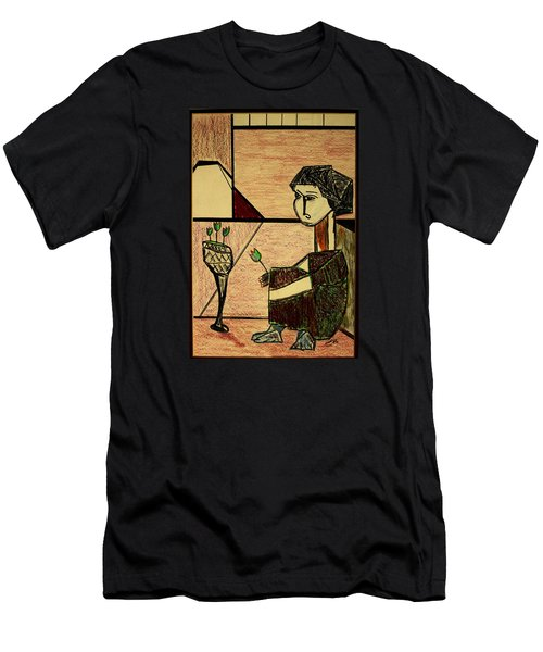 Men's T-Shirt (Slim Fit) featuring the drawing Remembering by Bill OConnor