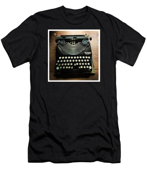 Remington Portable Old Used Typewriter Men's T-Shirt (Athletic Fit)